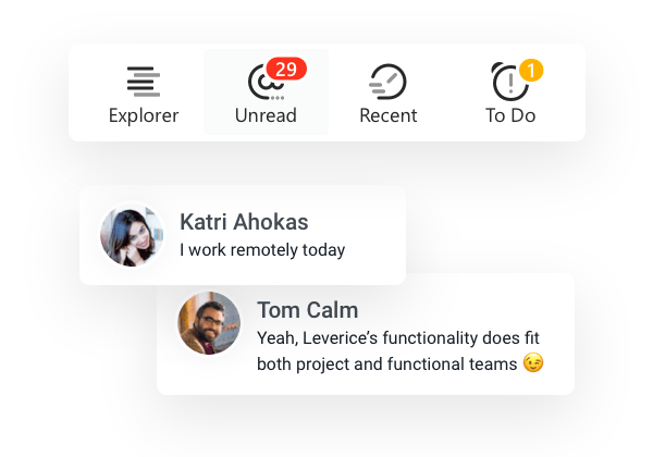 notifications in Leverice