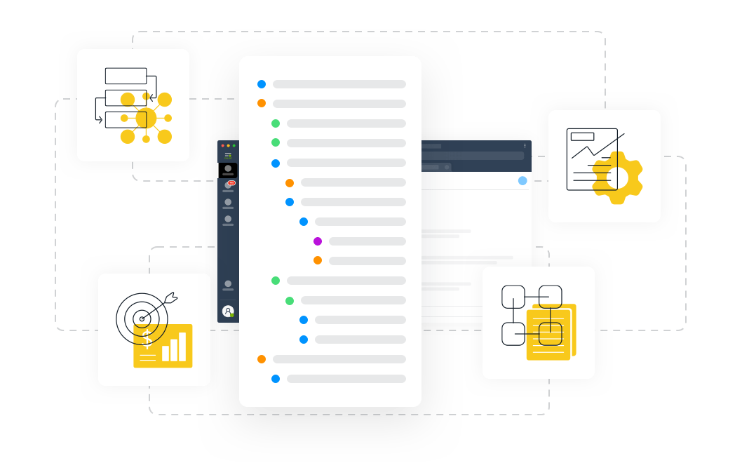 Marketing Management processes at Leverice app