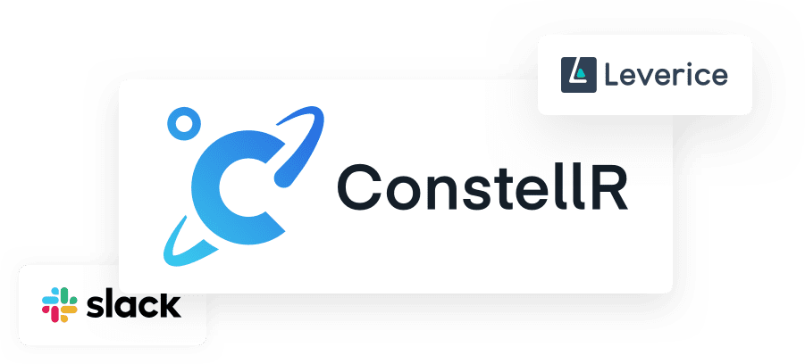 ConstellR logo with Slack and Leverice