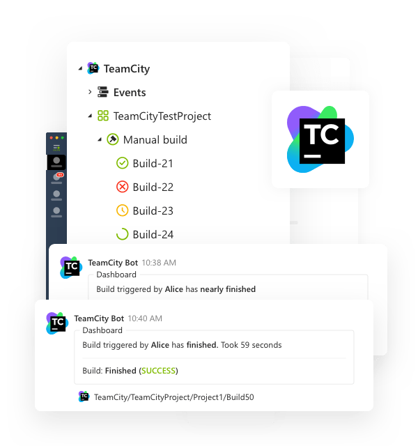 Leverice integrations with TeamCity